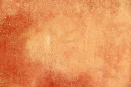 Terre cuite vide et fond orange pour la conception et la conception de couleur terre cuite. Fond de plâtre, pour la conception, la décoration et les modèles. Banque d'images