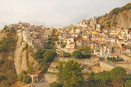 Old City on the Rock. The island of Sicily, Italy.