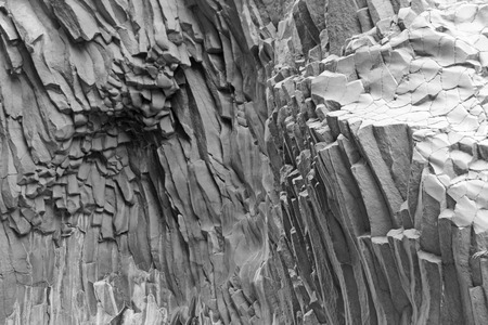 Background Of Gray Rocks. Gray Marble Background. Old Gray Stones. Gorge of Alcantara, Sicily Island, Italy. Stock Photo