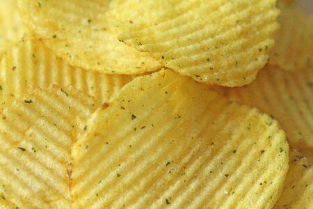 Potato chips. Snack Bar. Food.