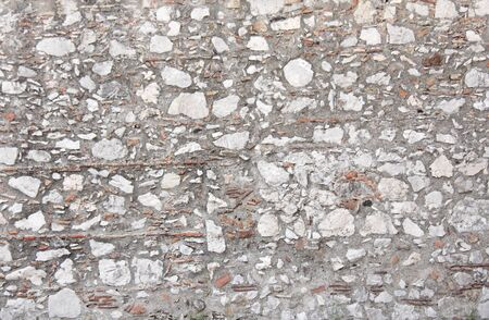 A wall from the Great Old Stones. Gray Stone Background. Gray Background for Your Design, Decoration, Templates. 写真素材