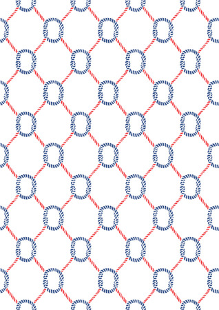 azul marino: Papel digital N�utico, patr�n de cerco, pintado a mano, Seamless, azul marino, rojo