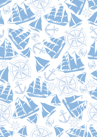 blue navy: Papel n�utico digital, pintado a mano, Seamless, azul marino, rojo