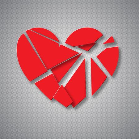 corazon roto: coraz�n roto en pedazos. EPS10 vector