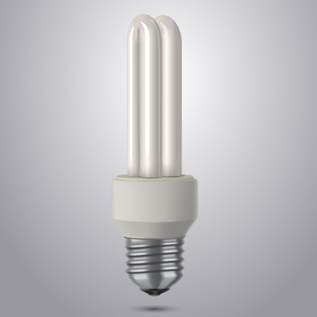 fluorescent tube: Realistic energy saving lamp. EPS10 vector