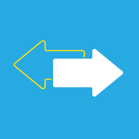 cerulean: Vector illustration of two arrows
