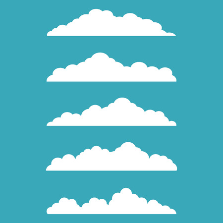 Vector illustration of clouds collection 일러스트