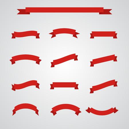 Big Ribbons Set. EPS10 vector