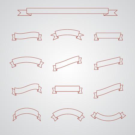 Big Ribbons Set. EPS10-Vektor- Standard-Bild - 34449919