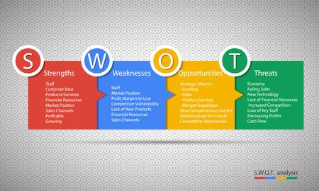 Swot Business Infographic. EPS10 vector 일러스트