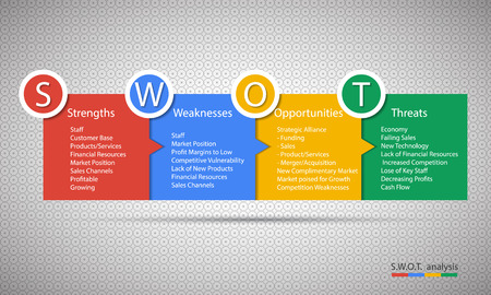 eps10 vector: Swot Business Infographic. EPS10 vector Illustration