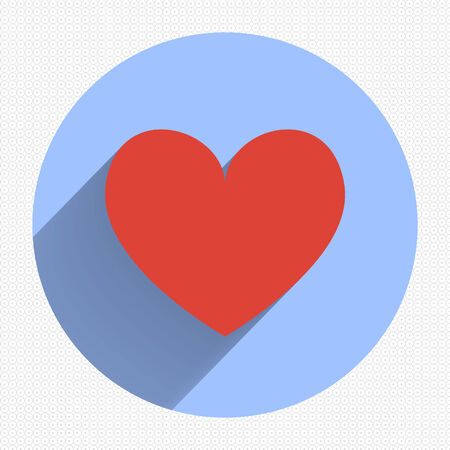 Heart Icon Vector. EPS10 Illustration. Flat design Vector