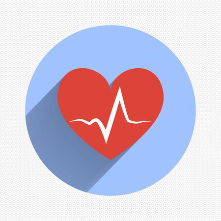 Heart Icon Vector. EPS10 Illustration. Flat design Vector