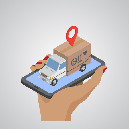 Process of delivery. Isometric vector illustration EPS10 vector 向量圖像
