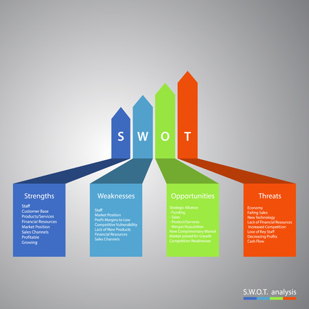 Swot analysis Business Infographic. EPS10 vector illustration Vector