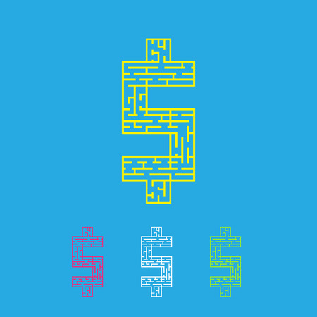 leading the way: labyrinth maze flat style vector illustration EPS10