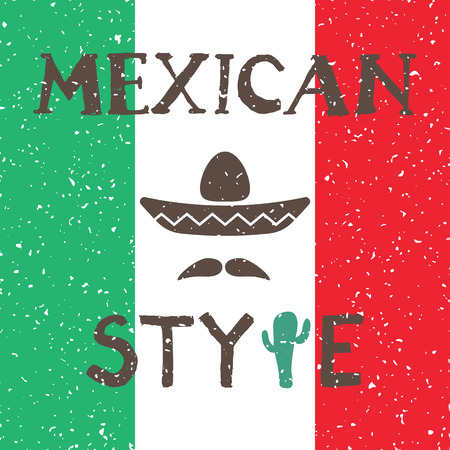 Mexico design over colorful background, vector illustration Vector