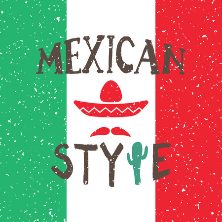 latinoamerica: Mexico design over colorful background, vector illustration Illustration