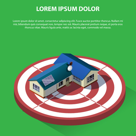 home loan: Flat 3d isometric creative  real estate sale web infographics concept. Home loan. Isometric illustration