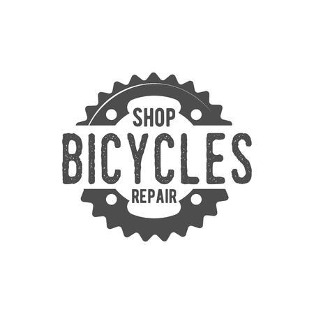 freeride: Vintage and modern bicycle  logo, badge, label and design elements Illustration
