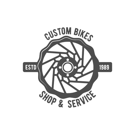 mtb: Vintage and modern bicycle  logo, badge, label and design elements Illustration