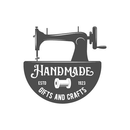 Tailor labels, badges, design elements and emblems. Shop design elements vector. Illustration