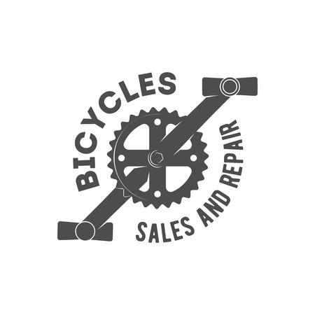 Vintage and modern bicycle  logo, badge, label and design elements Illustration