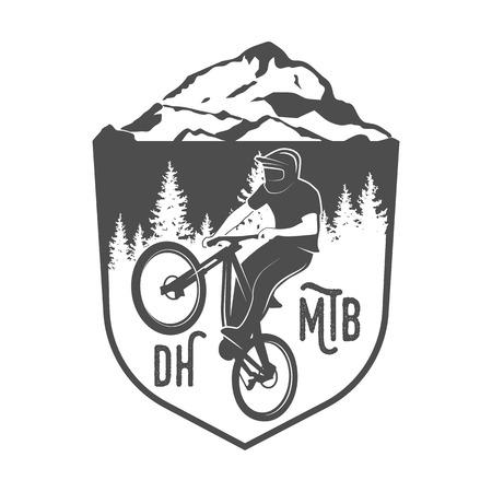 Vintage and modern bicycle  logo, badge, label and design elements Ilustração