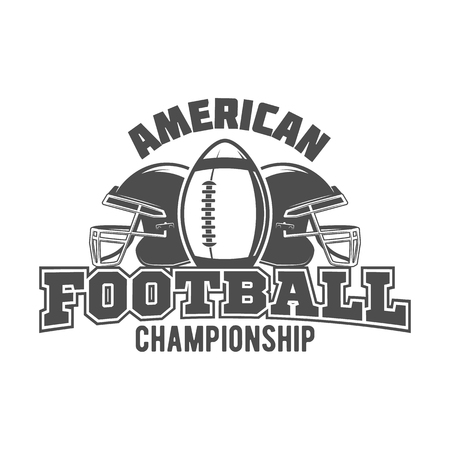 American football labels, emblems and design elements