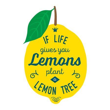 about you: Vintage posters  set. Motivation quote about lemons. Vector llustration for t-shirt, greeting card, poster or bag design. If life gives you lemons plant a lemon tree