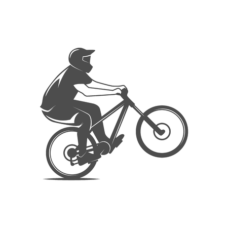 mountain silhouette: Vintage and modern bicycle  logo, badge, label and design elements Illustration