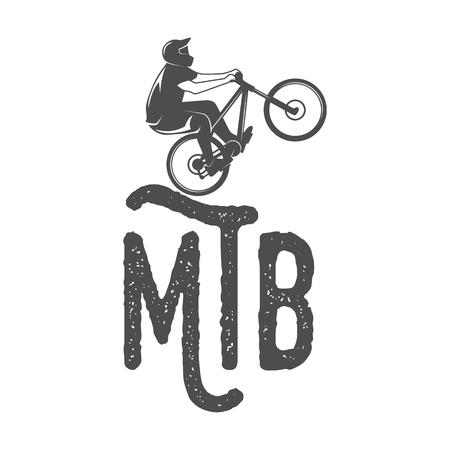 mtb: Vintage and modern bicycle   badge, label and design elements Illustration