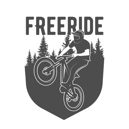 freeride: Vintage and modern bicycle   , badge, label and design elements