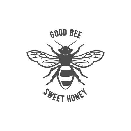 Vintage honey label, badge, and design elements