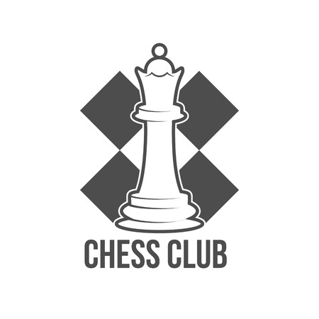 chess rook: Vintage chess labels, badge and design elements.