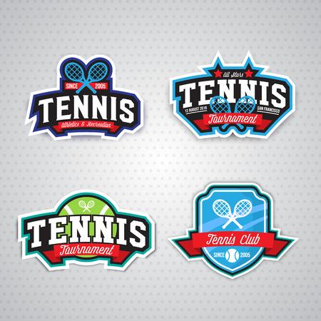 Tennis badge template,sport t-shirt graphics. Club emblem, college league , sport tournament, championchip design
