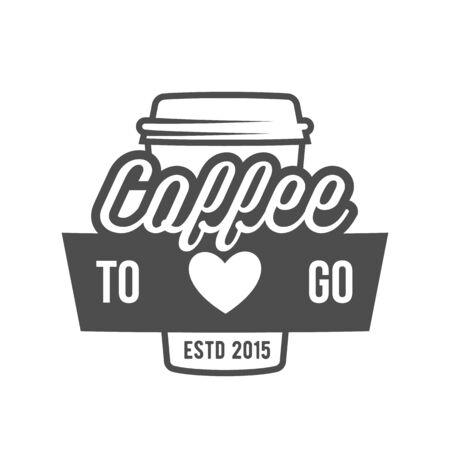 vintage: vintage coffee badge  logotype Illustration