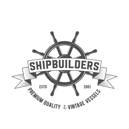 Insignia del club náutico, logotipo, etiqueta