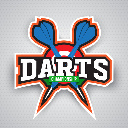 Vintage darts labels, logotypes, badges and vintage elements. . For sports design usage Фото со стока - 70778888