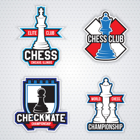 chess rook: Chess cup logo or emblem template