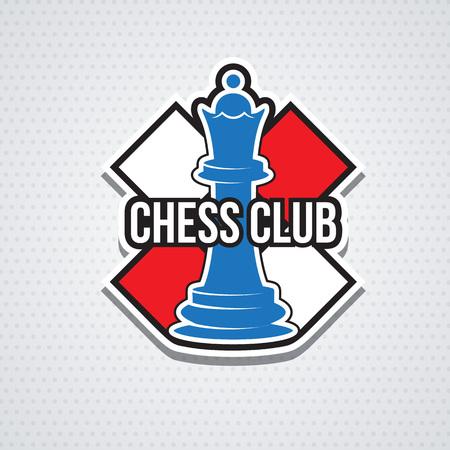 Schaken cup logo of embleem template