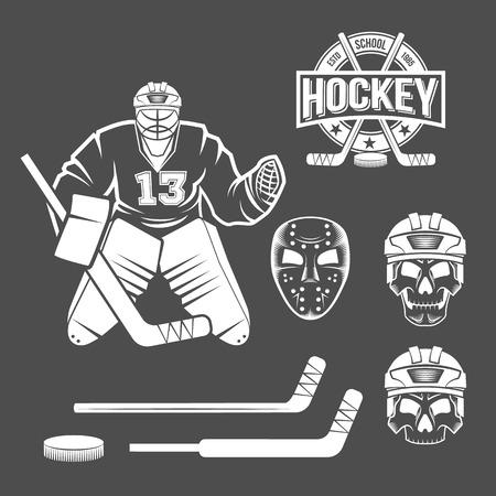 Léments de gardien de hockey sur glace Banque d'images - 75298235