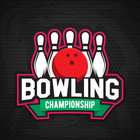ultimate bowling chanpionship logo design