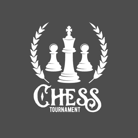Chess labels, badges and design elements Illustration
