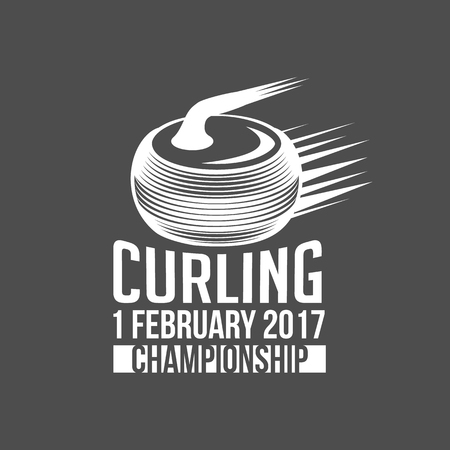 vintage curling labels and design elements