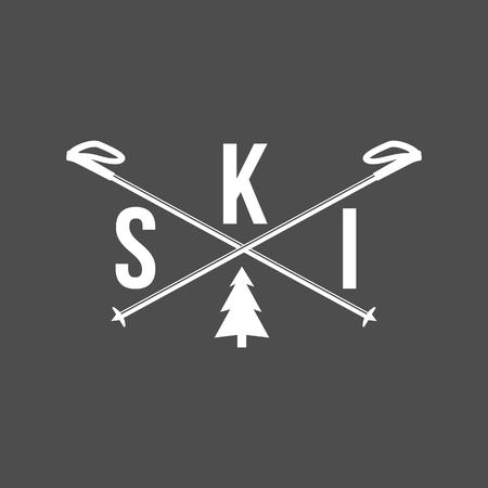 Ski banner.