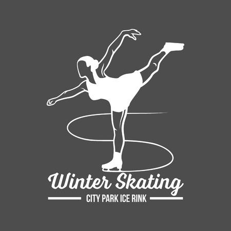 Winter skating banner.