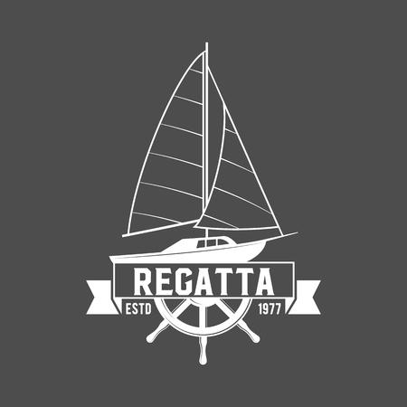 Zestaw odznak i logotypów żeglarskich