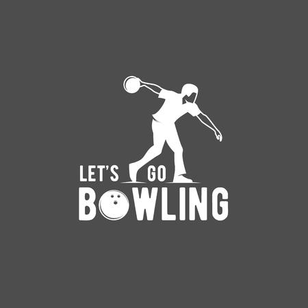 bowling emblem, label, badge and design elements