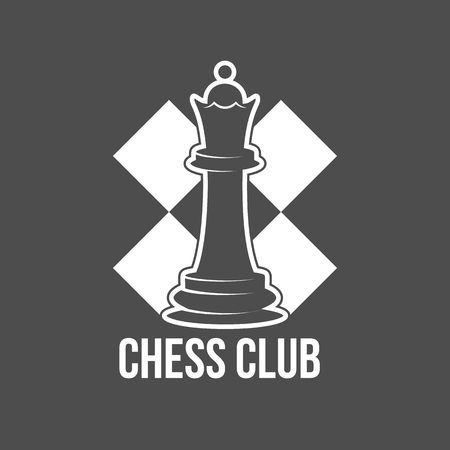 vintage chess label, logotype badge and design elements.
